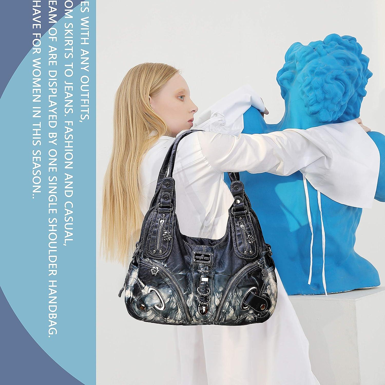 Handbag Hobo Women Bag Roomy Multiple Pockets Street ladies Shoulder Bag Fashion PU Tote Satchel Bag for Women