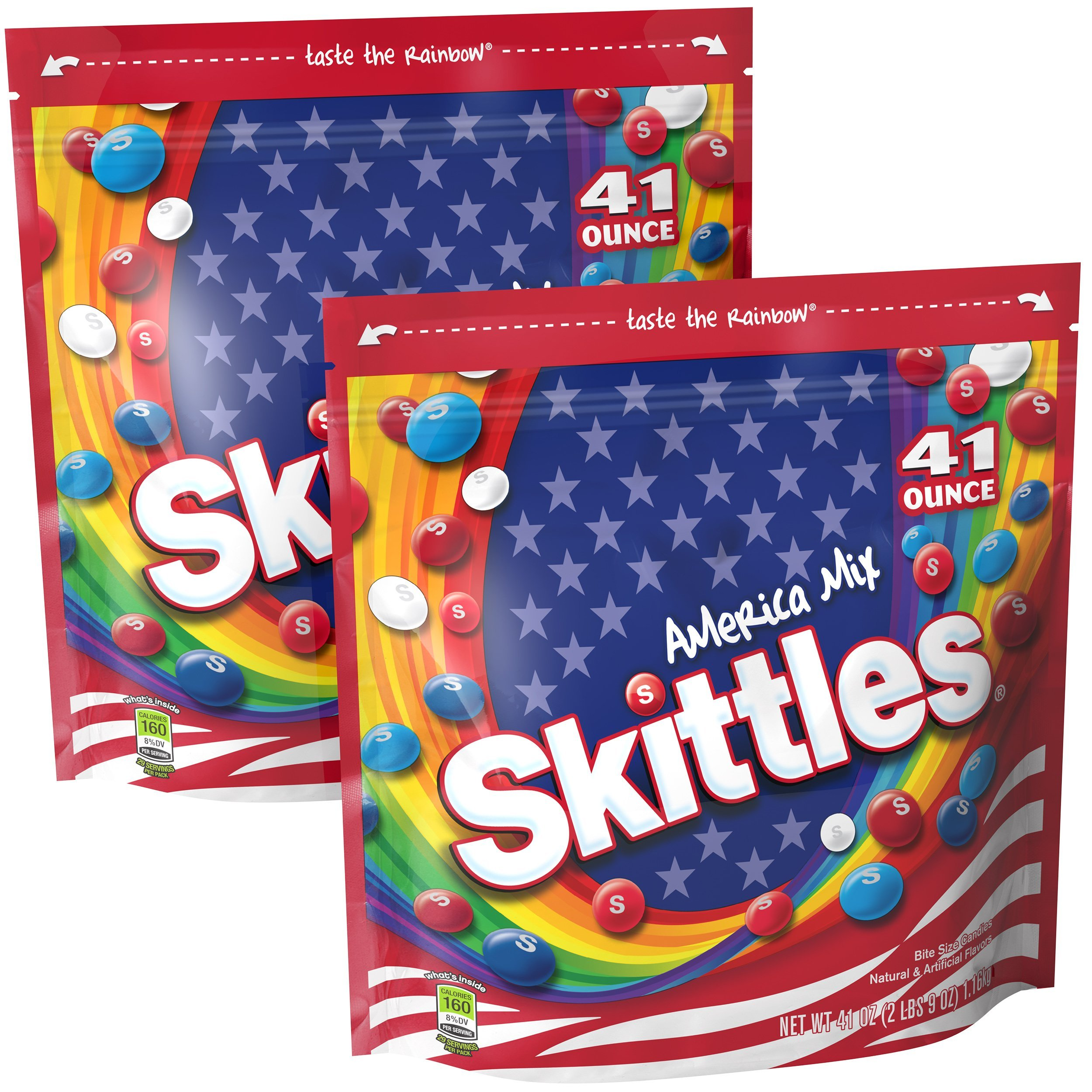 Skittles America Mix Candy, 41 ounce (2 bags) by Skittles