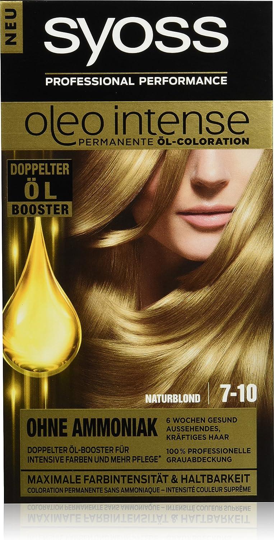 Syoss Oleo Intense - Tinte para el cabello, rubio natural, 7-10, 3 unidades (3 x 115 ml)