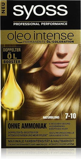 Syoss Oleo Intense Tinte para el cabello, rubio natural, 7-10, 3 unidades (3 x 115 ml)