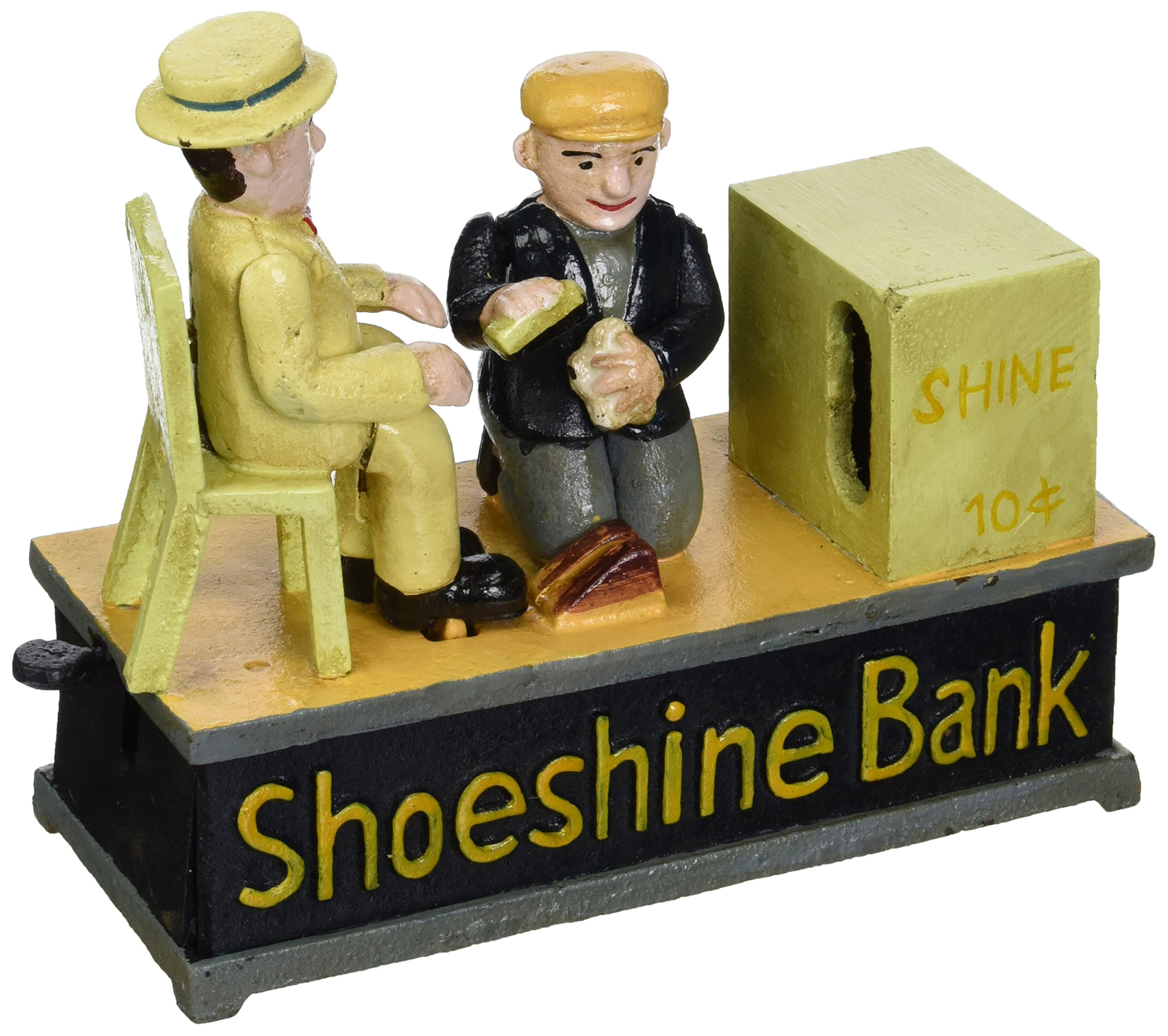 Design Toscano Shoe Shine Collectors Die Cast Iron Mechanical Coin Bank by Design Toscano (Image #1)