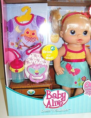 Exclusive Baby Alive Dress N Slumber Drink Wet Doll Amazon Co Uk