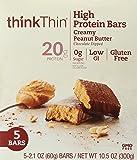 thinkThin Bar Creamy Peanut Butter, 10.5 oz