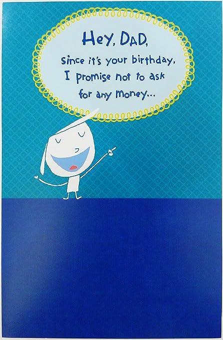 Amazon Com Cute Funny Humor Happy Birthday Dad Greeting Card