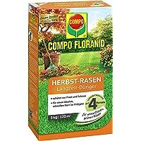 Compo Floranid® Engrais d'automne longue durée pour gazon, entretien de la pelouse avec effet longue durée jusqu'à 4mois, pour un gazon résistant à l'hiver, 3kg pour 120m²