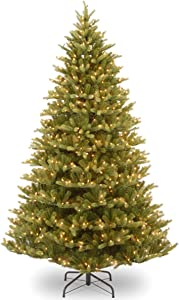 National Tree Company 'Feel Real' Pre-lit Artificial Christmas Tree | Includes Pre-strung White Lights and Stand | Normandy Fir - 7.5 ft