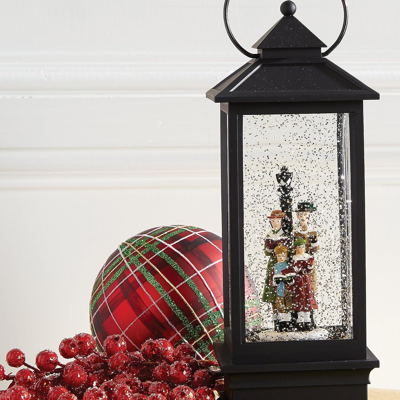 Amazon.com : Raz Imports Lighted Snow Globe Lantern: 11 Inch, Black ...
