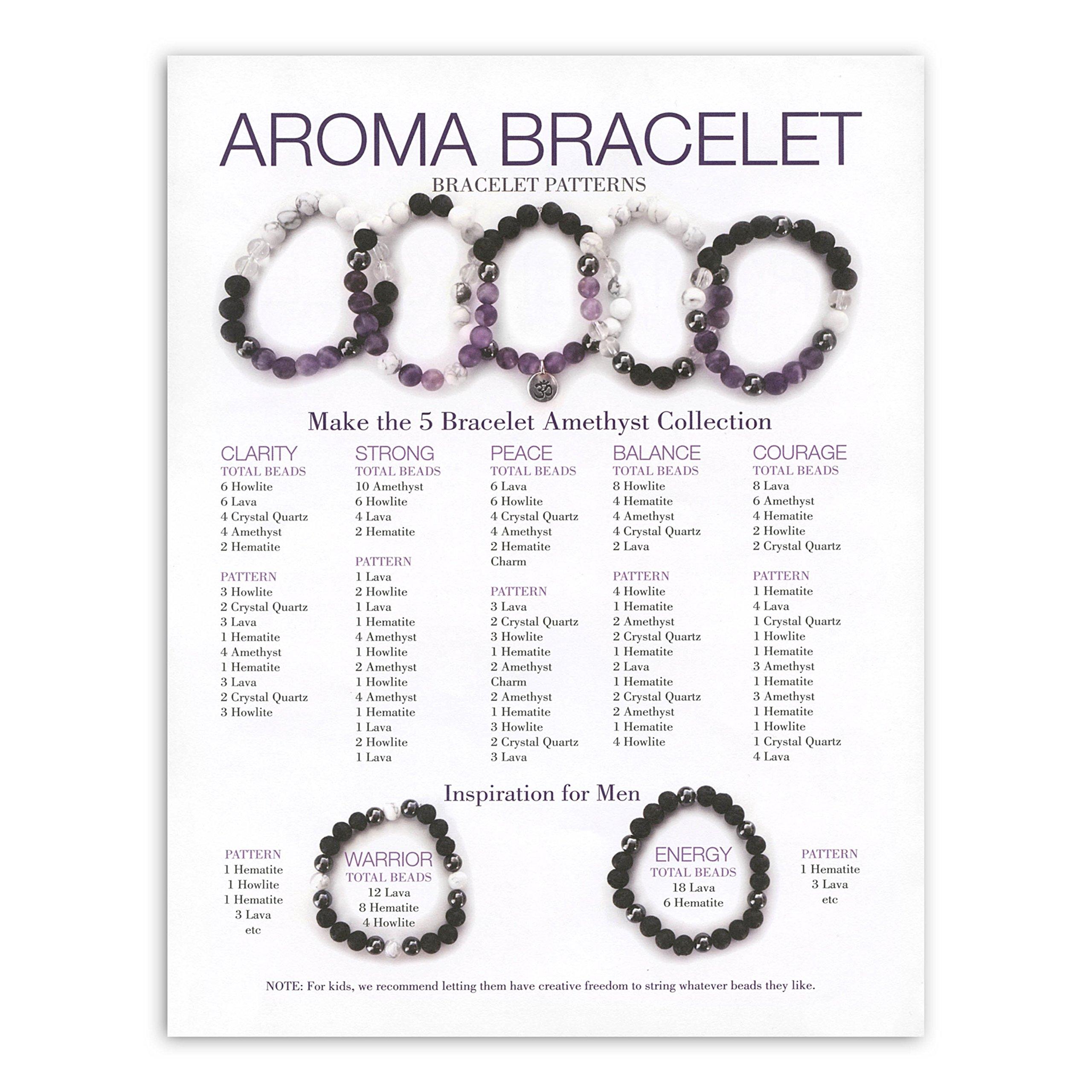 Amethyst Aroma Bracelet Make & Take Kit by EO Tools (Image #4)
