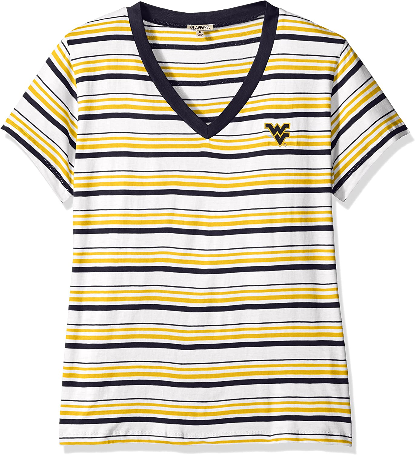 UG All stores are sold Apparel NCAA Women's T-Shirt Topics on TV Tailgate Striped