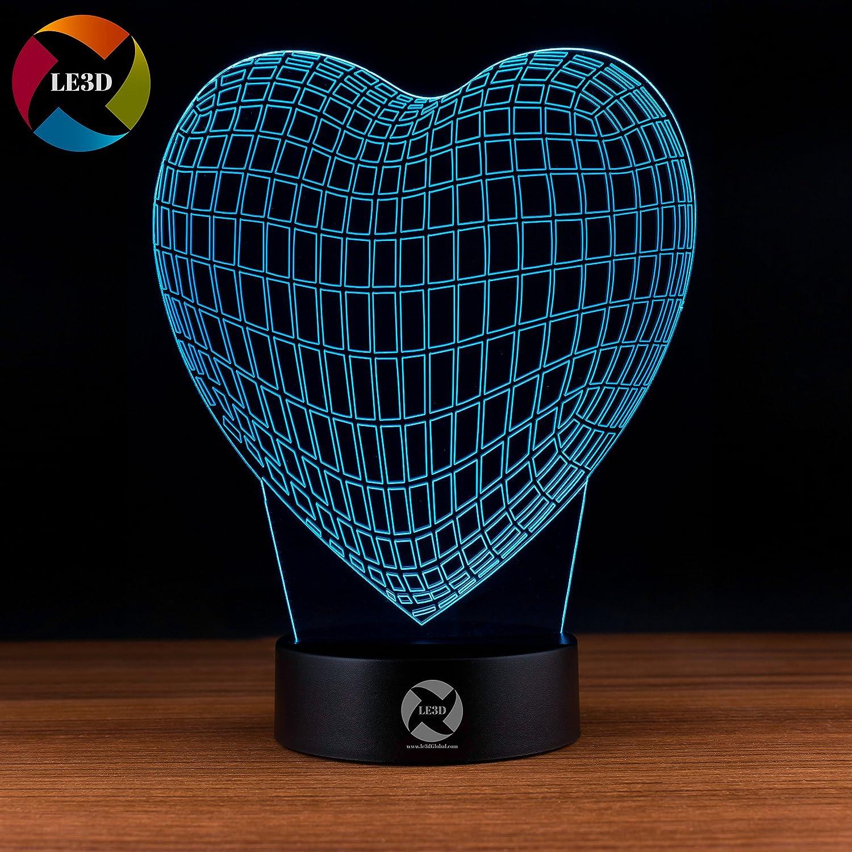 3D ナイトライト B071G8Y1GP 10609 ハート ハート