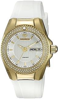 Technomarine Womens Cruise Quartz Gold-Tone and Silicone Casual Watch, Color: