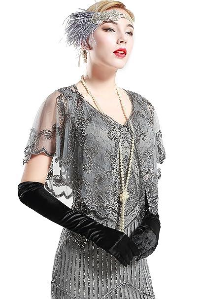 BABEYOND los años 20 abrigos del chal de la vendimia para los vestidos de noche mantón nupcial para el banquete de boda: Amazon.es: Ropa y accesorios