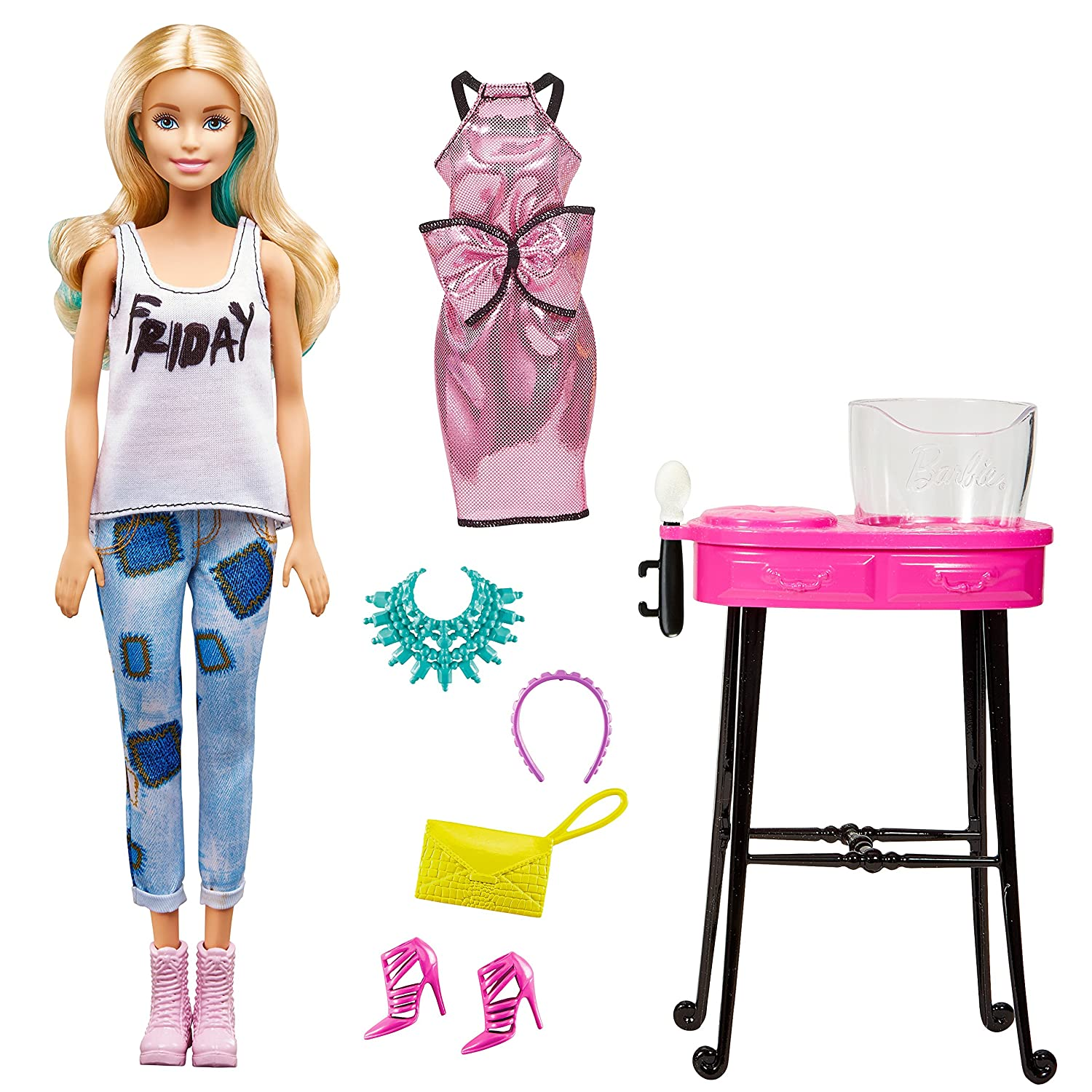 Amazon.com: BARBIE DAY TO NIGHT BLONDIE (twist to change hair color ...