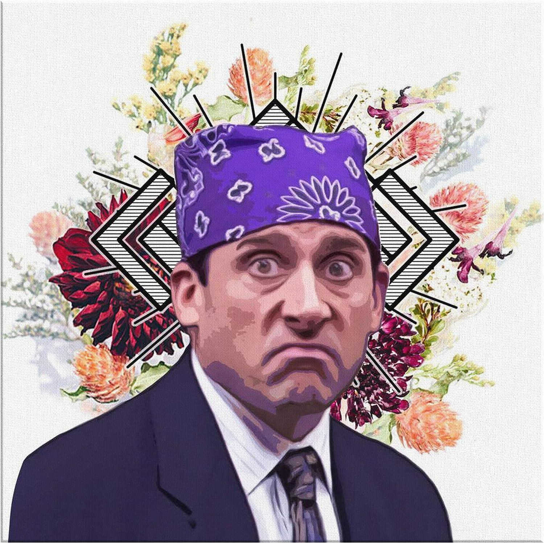Prison Mike Canvas Print - Funny Michael Scott Art Print - The Office TV Show Merchandise - 8x8 16x16 24x24 40x40