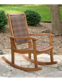 Patio rocking chairs for Outdoor interiors eucalyptus rocking chair