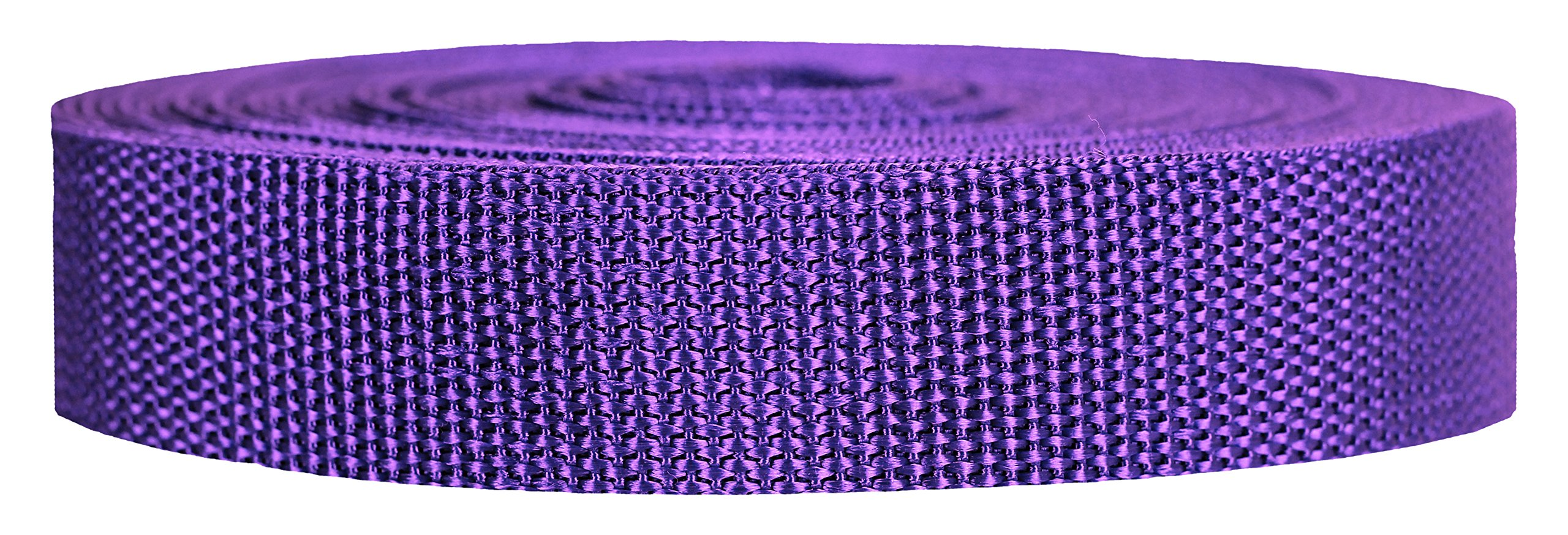 Strapworks Heavyweight Polypropylene Webbing - Heavy Duty Poly Strapping for Outdoor DIY Gear Repair, 1 Inch x 50 Yards - Purple by Strapworks