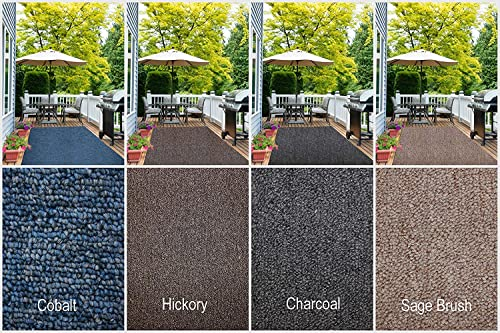 Indoor – Outdoor Area Rug Runners. Great Solution for Covering Decks, Balconies, Patios, etc. Multiple Colors 5 x 18 , Hickory