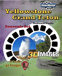 ViewMaster - Yellowstone and Grand Teton National Parks 6 Reels - 42 3D Images