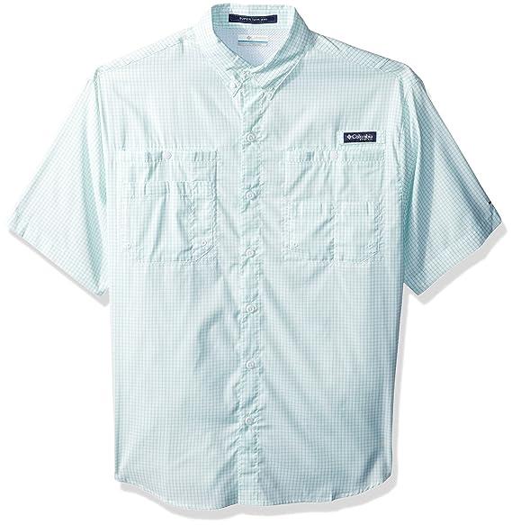 a9d28e8c944 Columbia Men's Super Tamiami Short Sleeve Shirt, Kelp Mini Check, X-Small