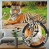 Tigre FOTOMURALE - maestosa tigre quadro murale ideale per il soggiorno by GREAT ART (210 x 140 cm)