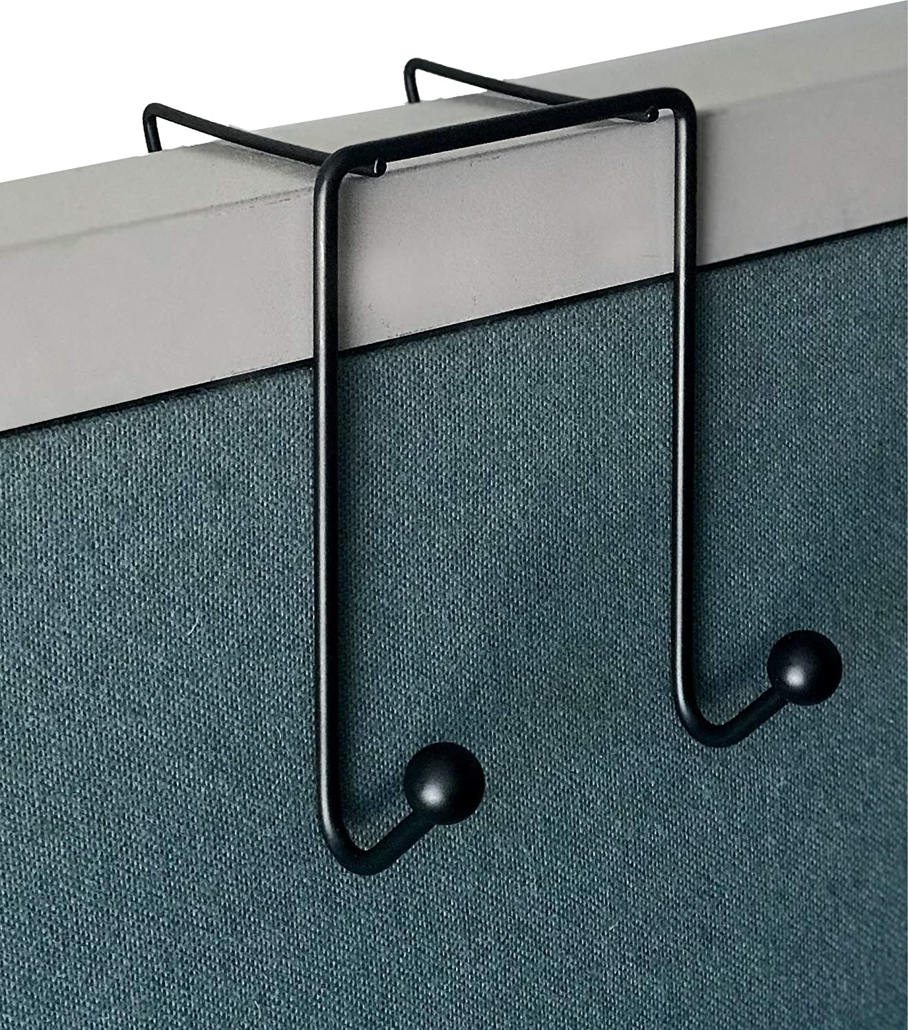Tetra-Teknica CWH-02 3 Inch Space Addition Wire Double Hook for Partition Wall Cubicle Panel, Color Black