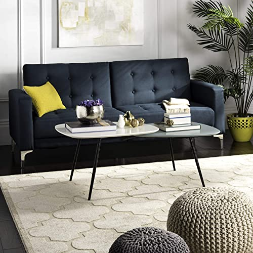Safavieh Home Collection Jasmine Bi-Level White and Black Coffee Table