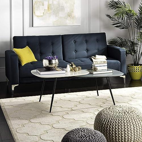 Safavieh Home Collection Jasmine Bi-Level White and Black Coffee Table