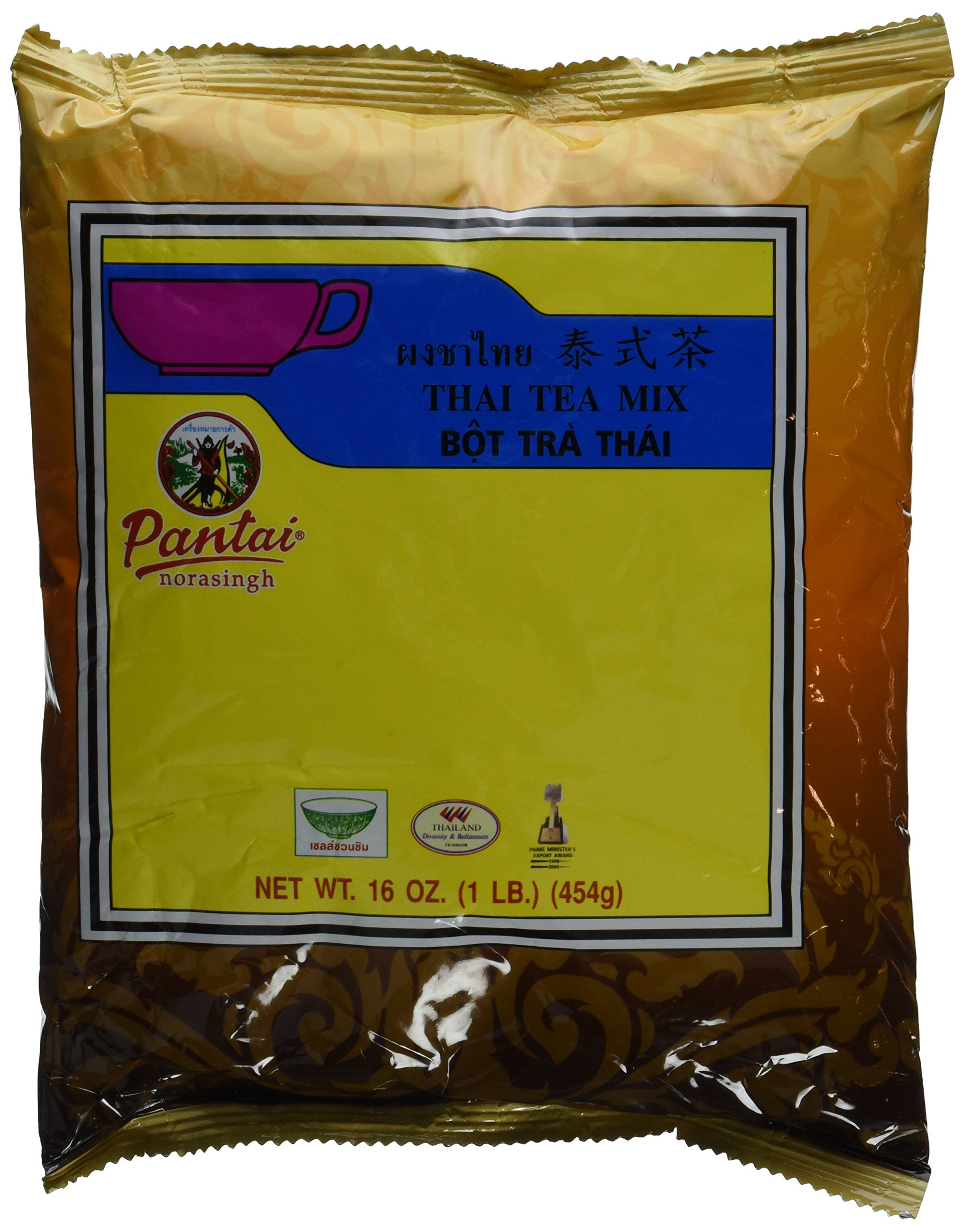 Pantai Norasingh Thai Tea Mix 1 Pound Bag - 4 Pack by Pantai