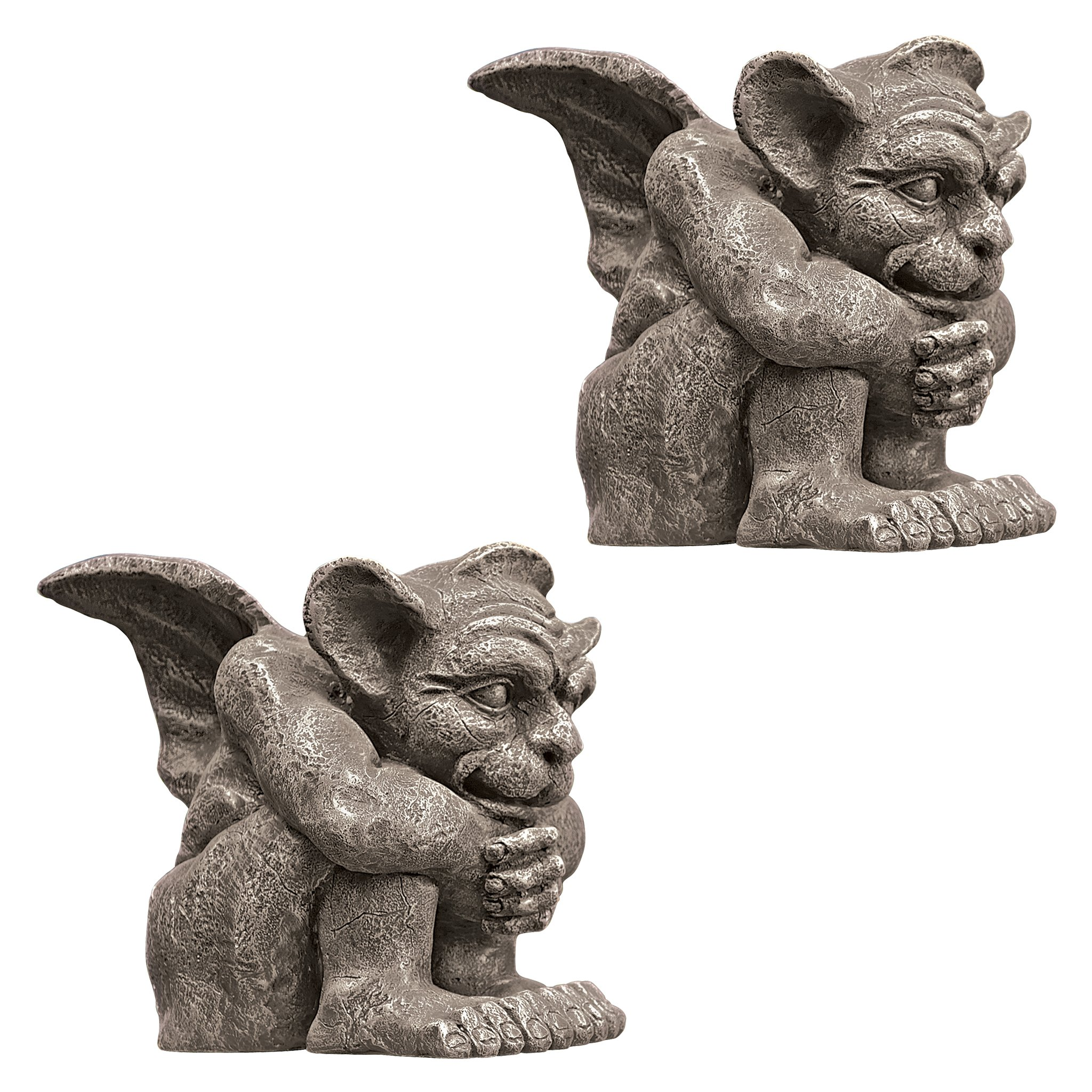 Design Toscano Emmett the Gargoyle Sculpture: Small, Set of Two
