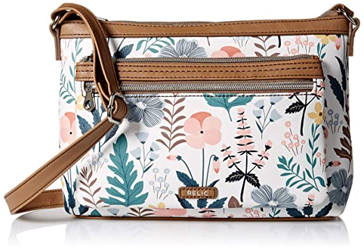 79888591e43d Relic by Fossil Evie Crossbody Handbag, White Floral: Handbags ...