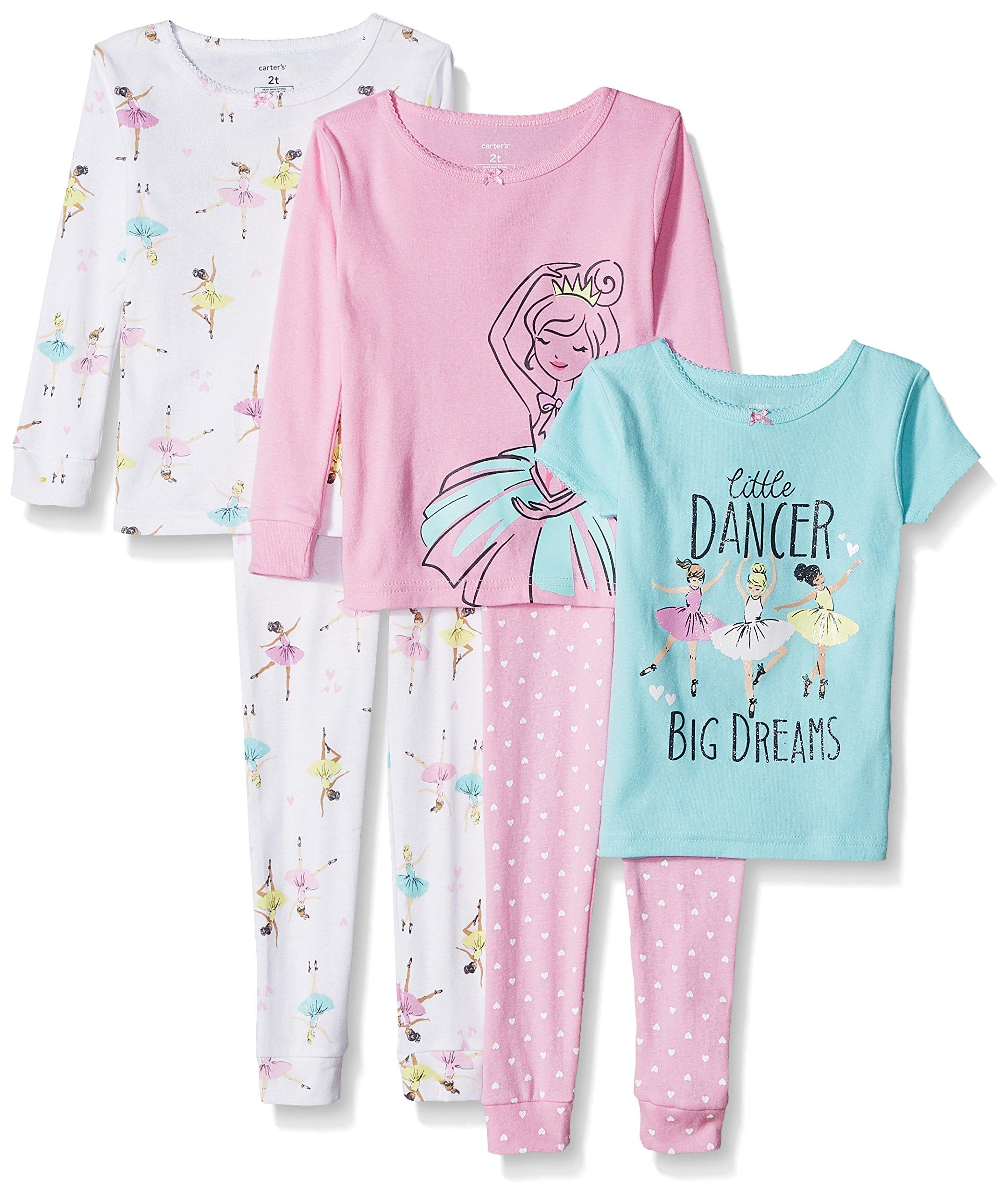 Carter's Girls' Toddler 5-Piece Cotton Snug-Fit