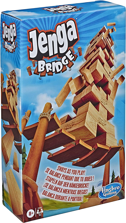 Hasbro Gaming Jenga Bridge Wooden Block Stacking Tumbling Tower Game