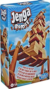 Hasbro Gaming Jenga Bridge Wooden Block Stacking Tumbling Tower Game for Kids Ages 8 & Up, 1 or More Players