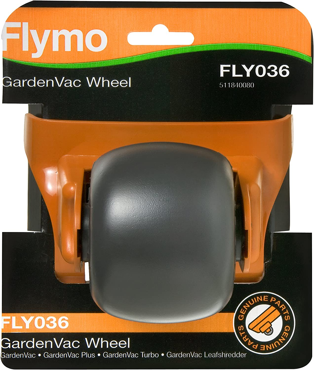 Flymo GardenVac 2700W Electric Garden Blower Vacuum with Flymo Wheel to suit all Gardenvacs FLY036 and Flymo Shred Lines x 5 to suit Gardenvac FLY024