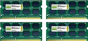 16GB (4x4GB) DDR3-1600MHz PC3-12800 2Rx8 SODIMM Laptop Memory