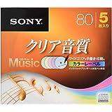 SONY CD-R オーディオ 5枚パック 5CRM80HPXS