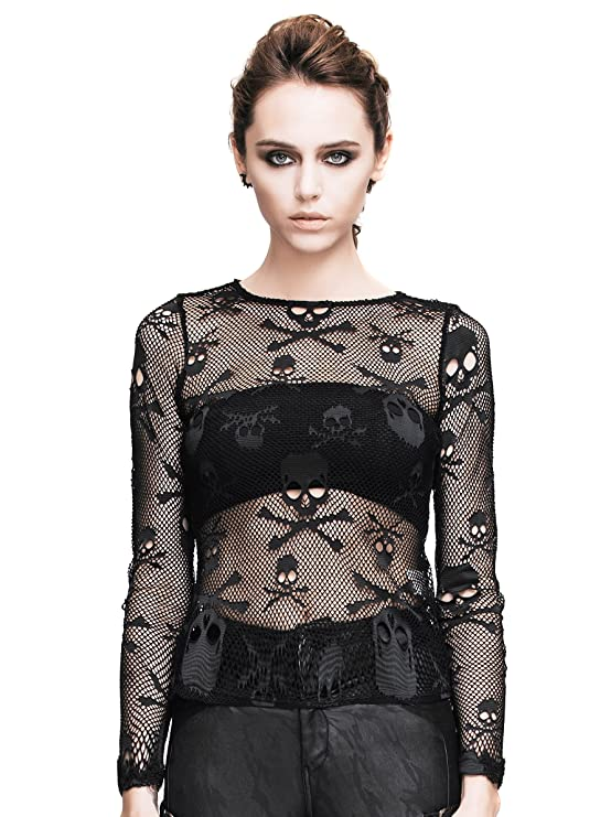 Steampunk Tops | Blouses, Shirts HaoLin Steampunk Retro Skeleton Shirt Gothic Clothing Pirate Costume For Halloween $20.66 AT vintagedancer.com