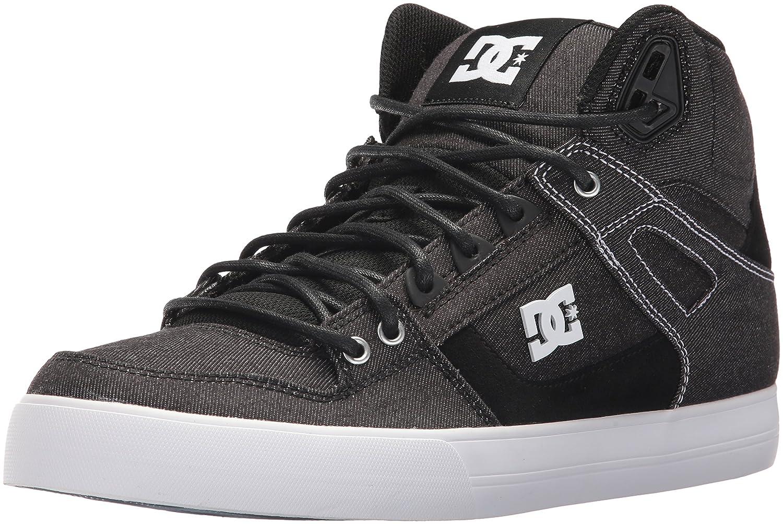DC Men's Pure High-Top Wc Tx Le Skate Shoe 6 D(M) US|Black/White/White