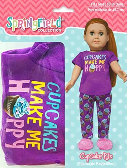 Springfield Collection by Fibre-Craft 18 Inch Doll Outfit, Cupcake PJs