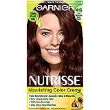 Garnier Nutrisse Nourishing Color Creme, 415 Soft Mahogany Dark Brown (Raspberry Truffle)(Packaging May Vary)
