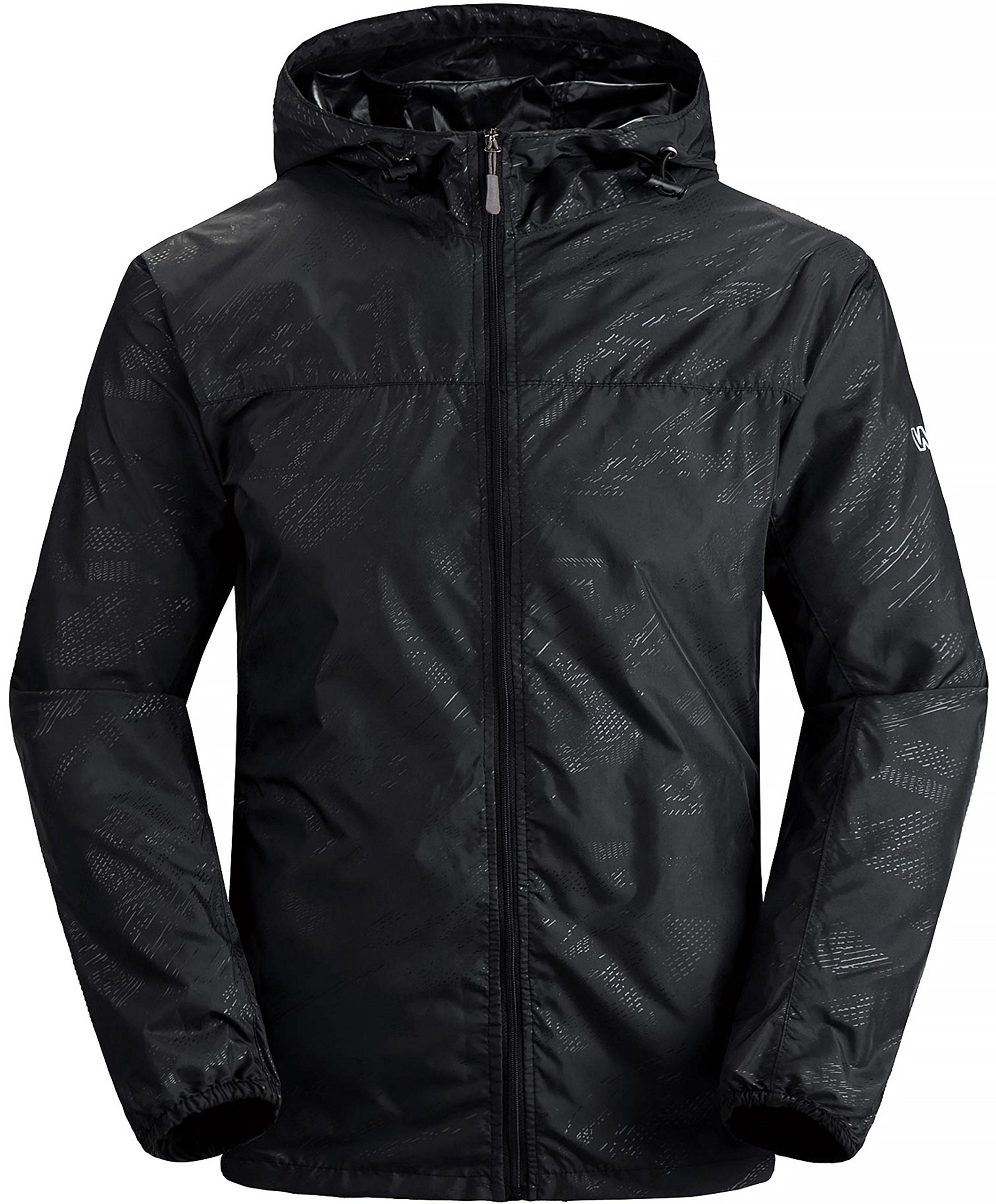 Wantdo Men's Lightweight Windproof Jacket UV Protect Quick Dry packable Skin Coat Black US L by Wantdo