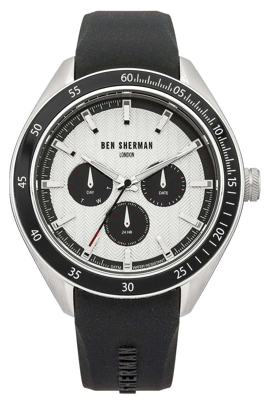Ben Sherman Herren-Armbanduhr Islington Multi-Function Analog Quarz Silikon WB011W