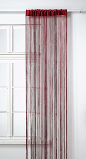 HomeMaison HM69807872 Rideau à Fils Spaghetti Bordeaux 90 x 240 cm ...