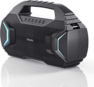 Bluetooth Speaker,Oraolo M100 Portable Bluetooth Speaker with 40W Loud Stereo,Sound Rich Bass 10000mAh Battery Power,Bluetooth 5.0,TWS LED Lights,Speaker for Home,Outdoor,Travel(Update)