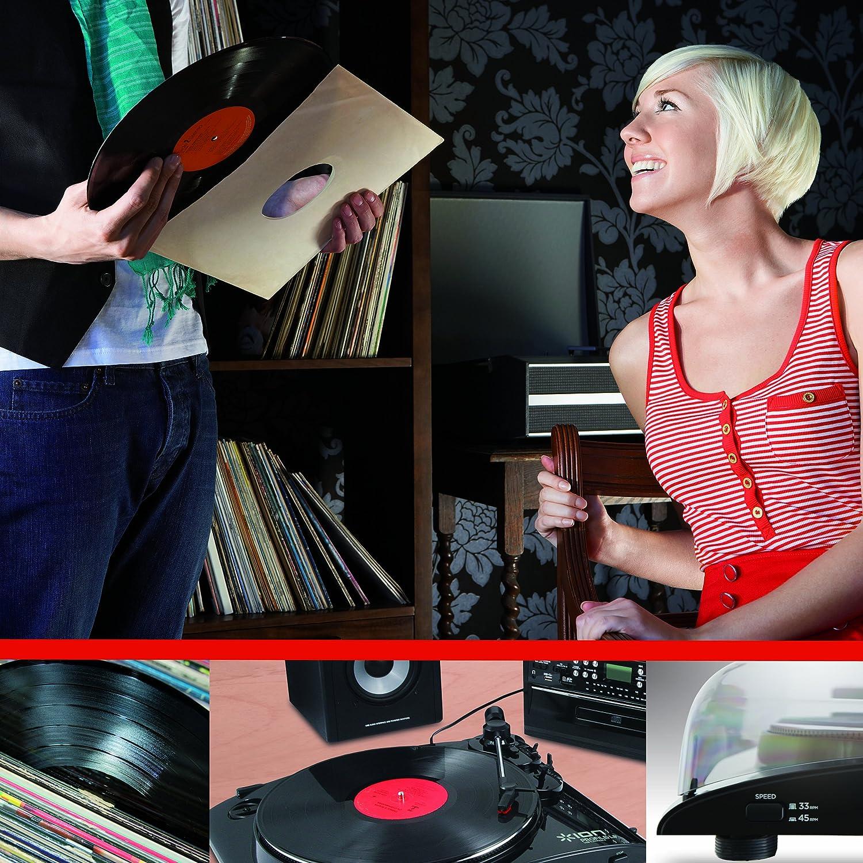 ION Audio PURE LP - Tocadiscos (230 V, corriente alterna, USB ...