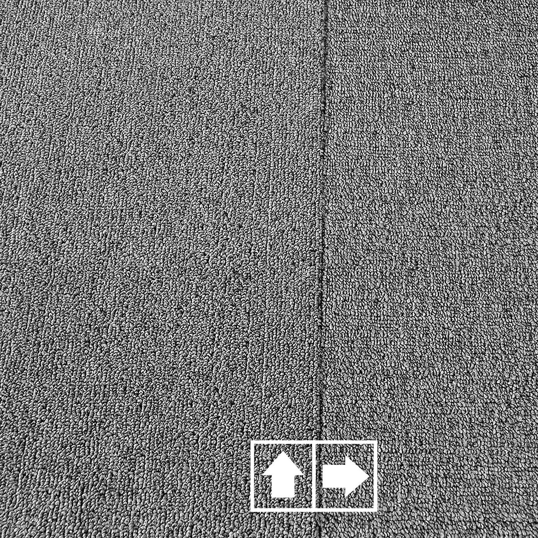 Moquette Int/érieure Rev/êtement Antid/érapant /& Acoustique A1 Gris 4 Pi/èces casa pura Dalle Moquette 50x50 Moquette Aiguillet/ée Boucl/ée Haute Qualit/é 1m/²