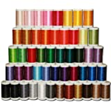Designio by Brother SA650 50-Piece High-Sheen, Polyester Embroidery Thread Set
