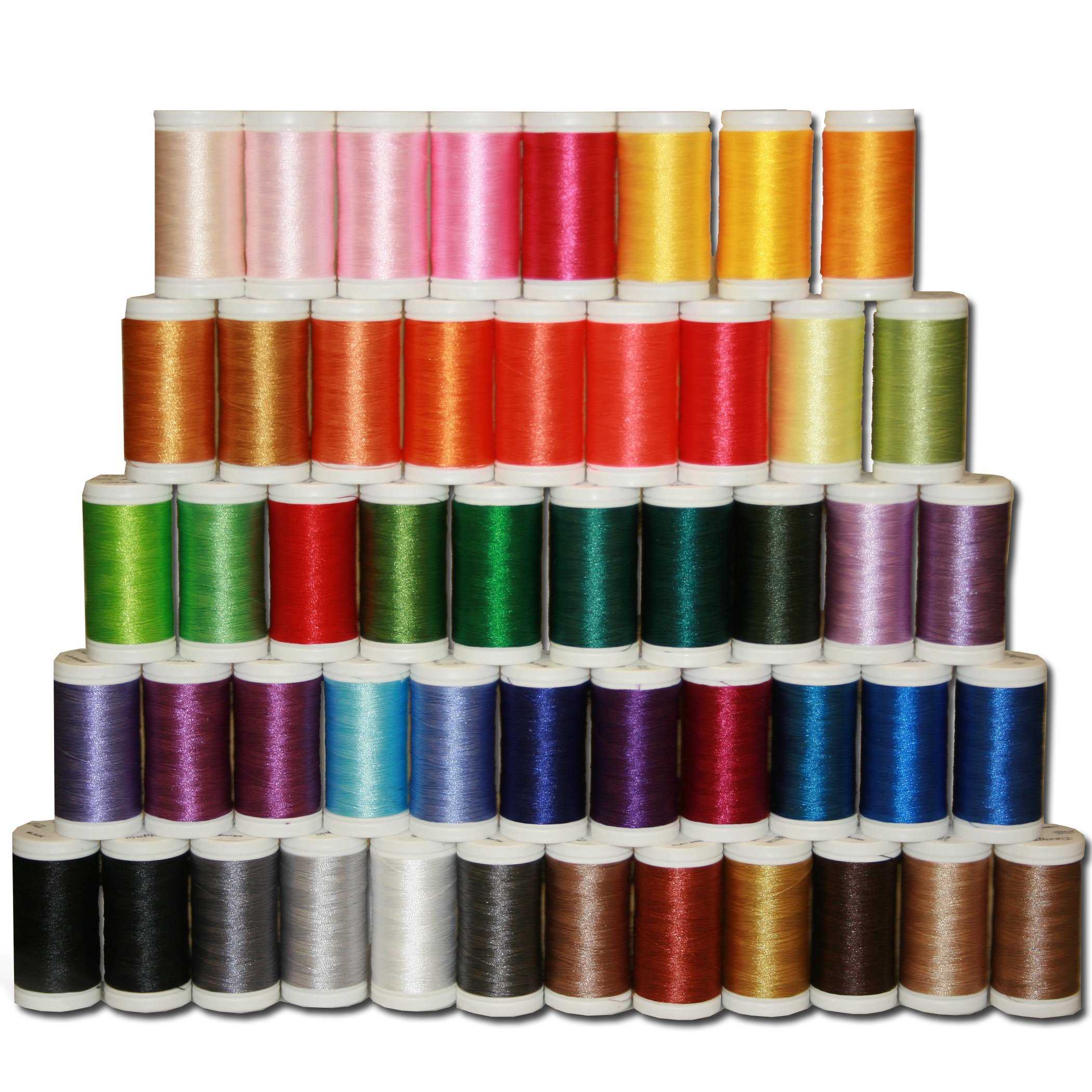 Brother Designio 50-Piece Embroidery Thread Set, SA650 by Brother