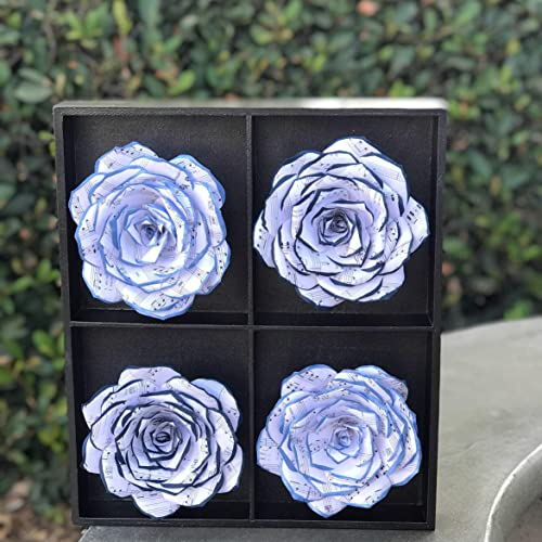 Amazon home decor 3d handcrafted paper flower art music note home decor 3d handcrafted paper flower art music note paper rose decor mightylinksfo