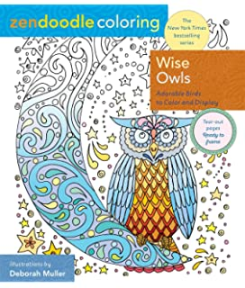 zendoodle coloring wise owls adorable birds to color and display